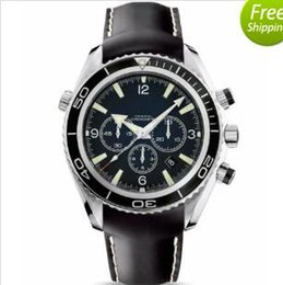 Wholesale Sea Planet - Luxury Swiss Brand New Designer Men Leather watch Automatic Mechanical Sea Planet Ocean Co-Axial Chronometer Fashion Mens Sport Watches