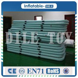 Wholesale Floor Cushion Pads - Free Shipping3x0.9x0.1m Inflatable Taekwondo Cushion Training Mattress Air Floor Tumbling Gymnastic Cheerleading Mat Trick Pad With Pump