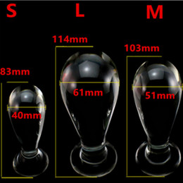 Wholesale Woman Anus - Large Glass Anal Bead Butt Plug Anus Expandable Stimulator In Adult Games , Erotic Sex Toys For Women And Men Gay