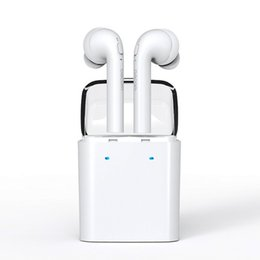 Wholesale Earphone For Apple Iphone - Dacom 7S Twins Earphone Earbuds TWS For Apple iPhone True Wireless Sports Earbud Headset with Portable Charging Case+Mic+Noise Cancellation