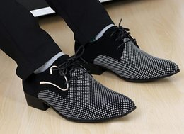 Wholesale Hot New Lace Up Shoes - fashion hot sale new lace-up Color matching Men suit Dress Shoes Office Men's pointed Leather shoes Male Business Shoes