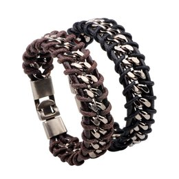 Wholesale Men Bracelet Korea - Bao Leather Bracelet men and women in Japan and South Korea version of the tide of male students Bracelet Europe and the United States