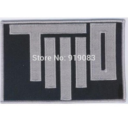 Wholesale Wholesale Character Patches - ARMY OF T.W.O. CHEST PATCH COSPLAY Iron On Patch Badge TV Movie Characters Series Embroideried Logo Badge Halloween Costume