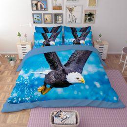 Wholesale Eagle Bedding - 3d Animals, Eagle twin full queen king size 3d bedding set duvet cover flat sheet pillowcases Bedclothes Sets Home Textiles Home Textiles