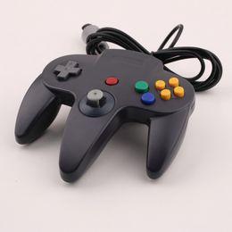 Wholesale Nintendo 64 Controller Joystick - Gamepads Long Handle Game Controller Pad Joystick for Nintendo 64 N64 System Black free shipping