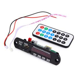 Wholesale Bluetooth Audio Board - Hot Car Bluetooth MP3 Decoding Board Module FM Radio USB TF AUX Remote Control for Vehicle 12V Wireless Audio Decoder Module