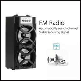 Wholesale Radio Tracks - MS-147BT Portable speaker High Power Output FM Radio Wireless Bluetooth Speaker Wih USB TF Card Slot Support AUX Song Track LED Light Flash