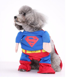 Wholesale Pet Dog Clothes Batman - Superhero Batman Style Dog Puppy Clothes Pet Garment Avaiable XS~XL Free Shipping Pet Clothes Outfit Shawl Mantle