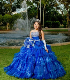 Wholesale Modern Dancing Pictures - Custom Made Ball Gown Quinceanera Dresses Strapless Shinny Sequins Beaded Strapless Corset Vestidos De 15 Anos Girls Dance Debutantes Gowns