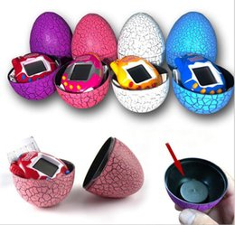 Wholesale Free Virtual Games - Tamagotchi Tumbler Toy Perfect For Children Birthday Gift Dinosaur Egg Virtual Pets on a Keychain Digital Pet Electronic Game DHL Free