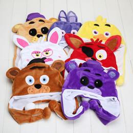 Wholesale Video Game Beanie - 7styles FNAF Five Nights At Freddy plush Toy cosplay Freddy Fazbear Foxy Bonnie Plush Hats Warm Caps Beanies