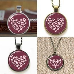 Браслет из лапы онлайн-10шт лапа сердце собака ювелирные изделия собака я люблю собак стекло фото ожерелье брелок закладка запонки серьги браслет