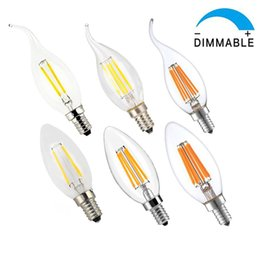 Wholesale Chandelier Candle Bulbs - led lights Dimmable led candle light 2W 4W 6W E14 E12 Dimmable Solution LED Candelabra Base Bulb Edison Chandelier Candle Lights