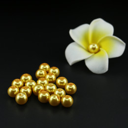 Wholesale Imitation Goods - 4 6 8 10mm Good quality weding glass round pearl beads, Topaz Glass Imitation Pearl Bead outlet