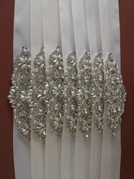 Wholesale Cheap Beaded Bridal Sashes - In Stock Bling Bling Stones Pearls Wedding Prom Evening Sashes Luxury Beading Shiny Bridal Accessories Cheap 2017