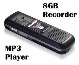 Wholesale Usb Telephone Audio Recorder - Wholesale-Digital sound recorder PRO 8GB 650Hr USB Digital Audio Voice Telephone Recorder Dictaphone MP3 Player Free Shpping