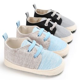 Wholesale Baby Boy Soft Sole Shoes - Baby Shoes Autumn Boys Casual First Walker New Infant soft-soled Prewalker Flat Shoes Toddler Sneakers Fashion Newborn Shoes C1601