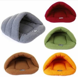 Wholesale Dog Kennel Cushions - Free Shipping !!! Pet Cat Dog Sleeping Bag Cushion Warm Comfortable House Kennel Bed Your Best Choice
