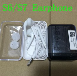 Wholesale Crystal Packaging Wholesale - 100Pcs 100% Original quality Earphone Headset Headphone With Remote&Mic For Samsung S7 S6 Edge Note 5 4 With crystal box package