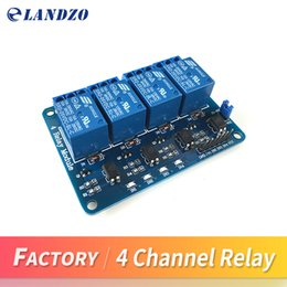 Wholesale Module Relay - Free shipping 4 channel relay module control board with optocoupler. Relay Output 4 way relay module for arduino