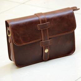 Wholesale Forest Leopard - Vintage British Sen female forest belt buckle Vintage Leather Shoulder Bag Messenger Bag 2125 small