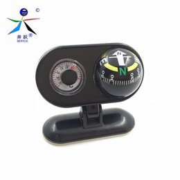 Wholesale Vehicle Compasses - Wholesale-Pivoting Compasses Dashboard Dash Mount Vehicle-borne Type Car Compass with Thermometer Caravan Boat Truck Compass