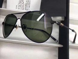 Wholesale Square Black Glass Plates - 2017 Chrome men STAINS Black Plated Green Lens Sunglasses Pilot Fashion Sunglasses brand new with box