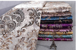 Wholesale Damascus Machine - European top-grade Damascus flower ice velvet gilding silver sand release is expected to hold pillow chair cushion for leaning on of fabric