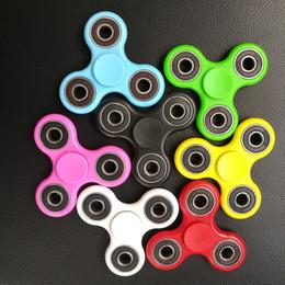 Wholesale Fidget Plush - Fidget Spinner Plush Toy Plastic Handspinner Fidget Fingertips Spiral Triangle Hand Spinner EDC fidget Rollver Retail Pack
