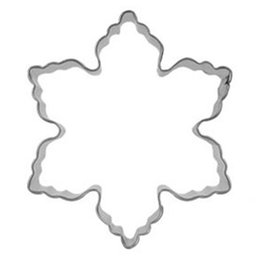 Wholesale Snowflakes Cake Mold - Wholesale- Kitchen Mold Stainless Steel Star Snowflake Biscuit Cutter Cookie Fondant Cake Icing Mold DIY Baking Tool
