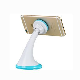 Wholesale Original Car Phone - ORIGINAL HOCO CA7 Suction Magnetic Mobile Phone Car Holder 360 Degrees Rotation For Apple Samsung HTC With Retail Package
