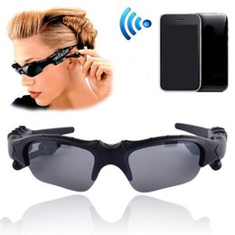 Wholesale Black Roses Headband - Driving Sun Glasses Bluetooth 4.1 Stereo Headset Sunglasses Wireless Handsfree With Mic and Music For Apple Samsung Any Mobile Phone