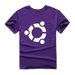 Wholesale System Clothes - The Big Bang Theory UBUNTU System Men T shirts Woman sheldon Cooper Short Sleeve Top Quality Cotton T-shirt Lovers Tees Clothing