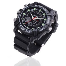 Wholesale Watch Spies - Waterproof 1080P Spy watch camera 32GB 16GB 8GB with IR Night Vision Full HD watch DVR Hidden camera Video recorder security mini camcorder