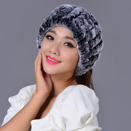 Wholesale Head Hand Warmers - Ms.MinShu Real Rex Rabbit Fur Headband Women Head Warmer Real Fur Headband Winter Elastic Neck Warmer Hand Knitted Soft and fluffy Scarf