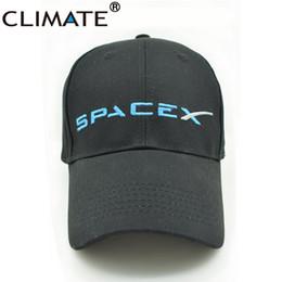 Wholesale Cool Hats Fans - Wholesale- CLIMATE 2017 New U.S Hot Cool Spacex UFO Baseball Hat Caps Adult Men Women Outer Space Rocket Musk Fans Sport Active Cool Caps