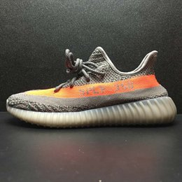 Wholesale Soccer Shoes Blue Yellow - 2017 SPLY 350 Boost V2 Best Frozen Yellow Blue Tint Beluga 2.0 Black Red Copper Green Bred Dark Green Boost 350 Running Shoes With Box