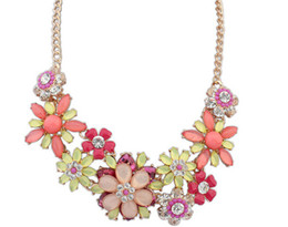 Wholesale Twisted Chunky Choker Necklace - Fashion Elegent chain Chokers chunky big statement Chunky flower Crystal Short necklaces Cheap High Quality necklace
