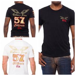 Wholesale Jeans Long Sleeve Tshirt - High quality cotton robin jeans men tshirt robin man t-shirt tee hiphop male wings short sleeve shirts plus size 3XL hip hop clothing