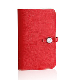 Wholesale Purple Clutch Wallet New - 2017 new female wallet long leather multifunction and genuine passport holder large handbag