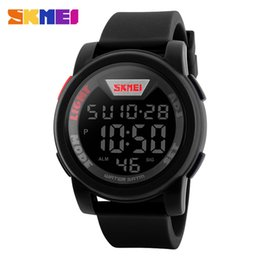 Wholesale High End Digital Watches - SKMEI 5ATM Water Resistant Simple High-end Fashion Digital Watch Excellent Unisex Wristwatch with Chronograph Alarm Calendar