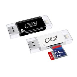 Wholesale External Storage - External Storage Microsd TF Multi Card Reader USB 3.0 SD Adapter Card Reader for iPhone