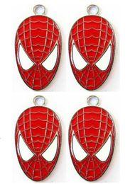 Wholesale spiderman charms - New 10 pcs Cartoon Super Hero Spiderman Enamel Metal Charm Pendants, Fashion Key Chain DIY Jewelry Making Accessories Pendant N-19