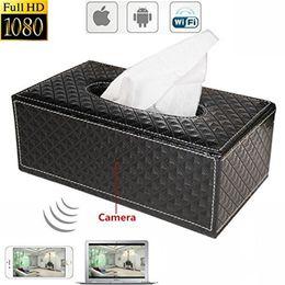 Wholesale Security Box Camera Wifi - 1080P Tissues Box Hidden Spy Camera WIFI HD DVR Hidden IP Camera Wireless Security Nanny Cam Mini DV