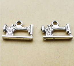 Wholesale Wholesale Parts Sewing Machine - A0043 ancient silver 2.3 grams, DIY jewelry accessories, alloy sewing machine parts, retro DIY 50   bag