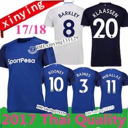 Wholesale Red Top Xl - NEW 2017 2018 Everton ROONEY home soccer jersey Top quality 17 18 Everton Away 3RD jerseyS LUKAKU MIRALLAS LENNON BARKLEY football shirts
