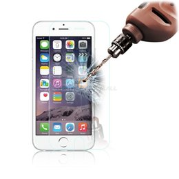 Wholesale Iphone 4s Transparent Glass - Tempered Glass Screen Protector for iphone 6 6S 7 Plus 5 5S SE 5C 4 4S 0.2mm 9H Guard Premium Flim Transparent