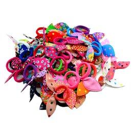 Wholesale Girls Hair Bands Accessories - 20pcs lot 2015 gum for Hair Women Girls Accessories Scrunchy Elastic Hair Bands Headdress acessorios para cabelo Rabbit ears
