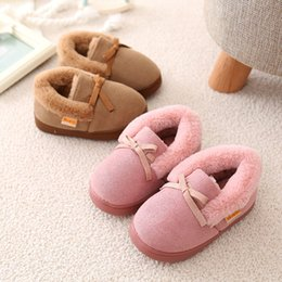 Wholesale Boys House Shoes Slippers - Unique Panda Winter Slippers for Children Shoes Girls Warm House Shoes with Plush Boys Indoor Baby Kids Boots Boy Girl Slippers
