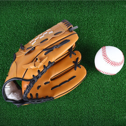 Wholesale Brown Baseball Gloves - Outdoor Sports Brown Baseball Glove Softball Practice Equipment Size 10.5 11.5 12.5 Left Hand for Adult Man Woman Training +B